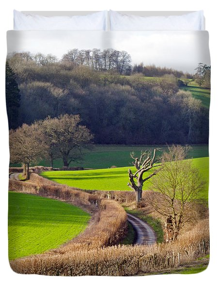 Winding Country Lane Duvet Cover by Tony Murtagh