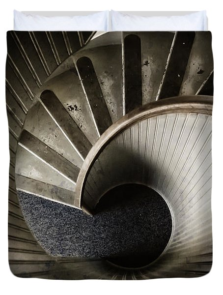 Winding Down Duvet Cover by Joan Carroll