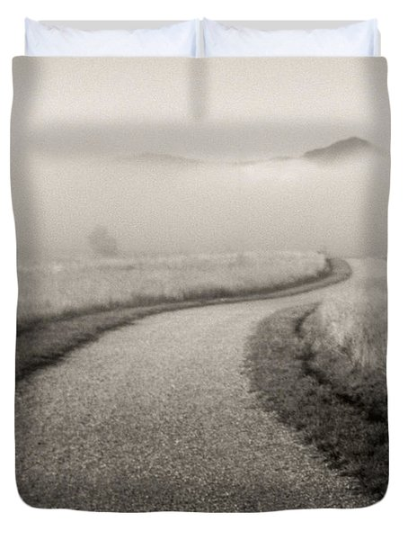 Winding Path And Mist Duvet Cover by Marilyn Hunt