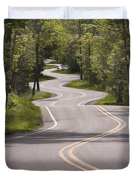 Winding Road Door County Duvet Cover