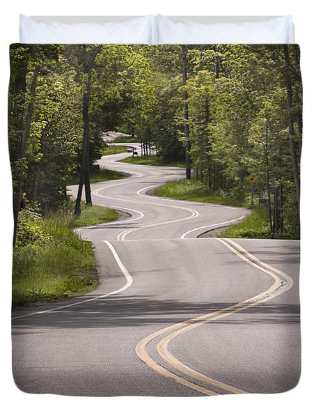 Winding Road Door County Duvet Cover