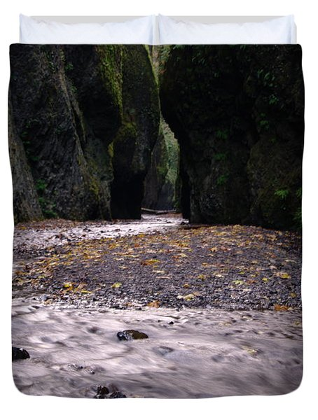 Winding Through Oneonta  Gorge Duvet Cover by Jeff Swan