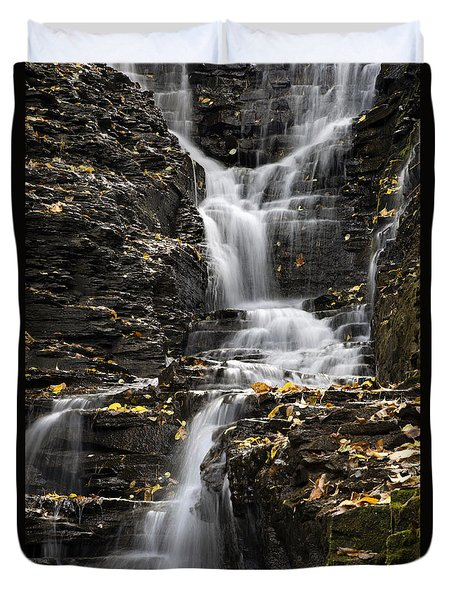 Duvet Cover featuring the photograph Winding Waterfall by Christina Rollo