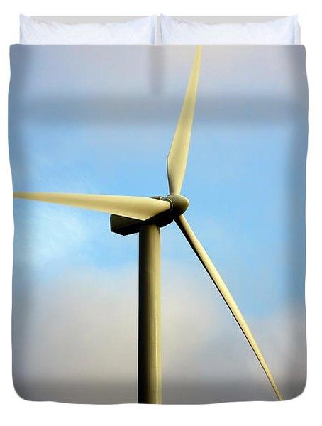 Windmill Dark Blue Sky Duvet Cover