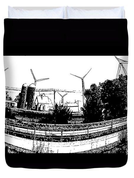Windmill Farm Duvet Cover by Gerry Robins
