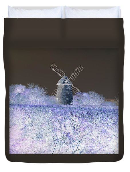 Windmill In A Purple Haze Duvet Cover