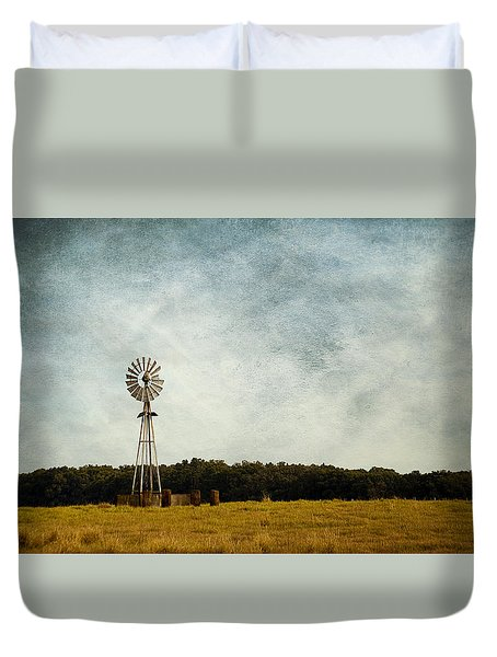 Windmill On The Farm Duvet Cover