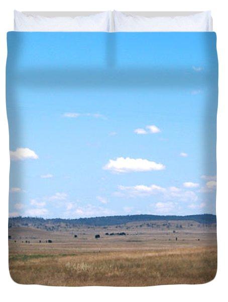 Windmill On The Plains Duvet Cover by Kaleidoscopik Photography