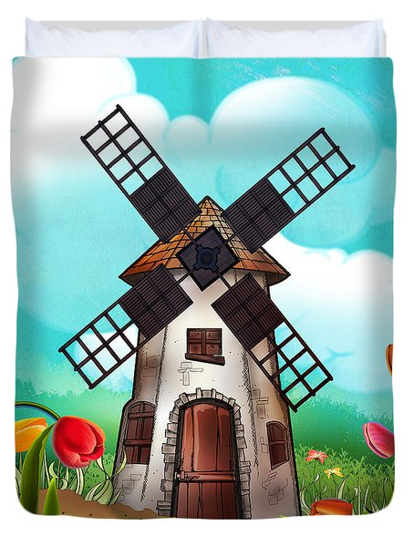 Windmill Path Duvet Cover