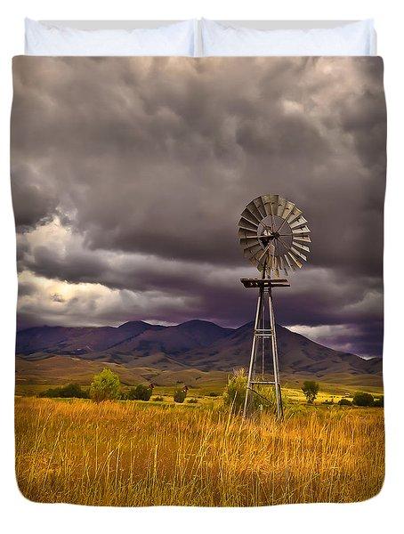 Windmill Duvet Cover by Robert Bales