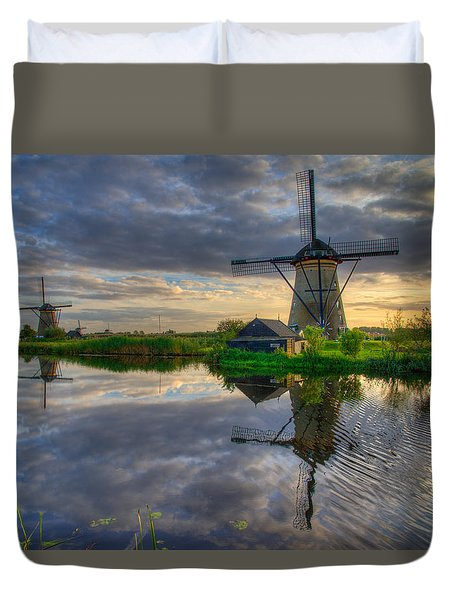 Windmills Duvet Cover by Chad Dutson