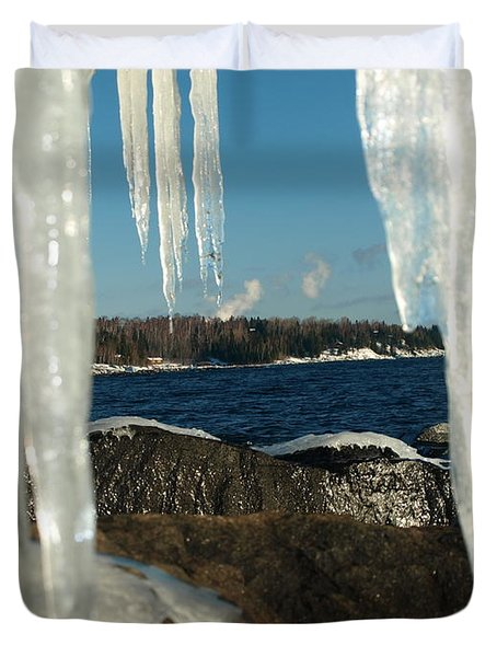 Duvet Cover featuring the photograph Window Into Minnesota by James Peterson