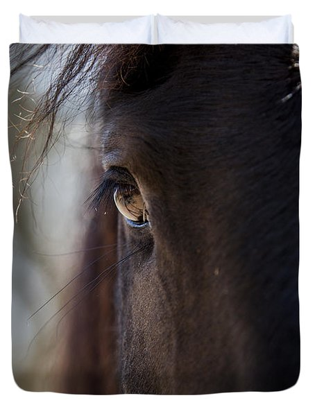 Window Into The Gentle Giant's Soul Duvet Cover