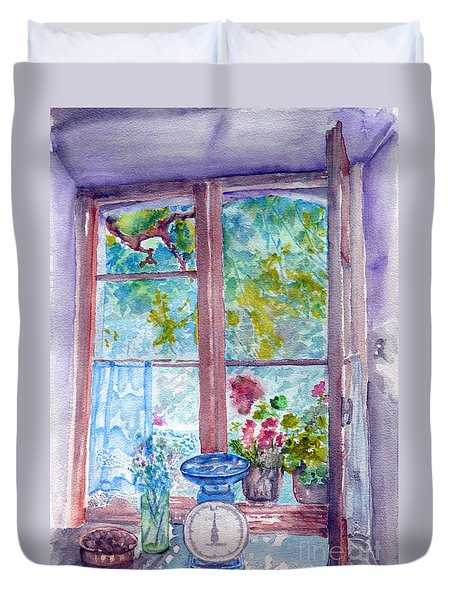 Window Duvet Cover by Jasna Dragun