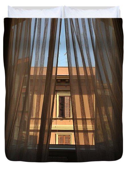 Window On Rome Duvet Cover
