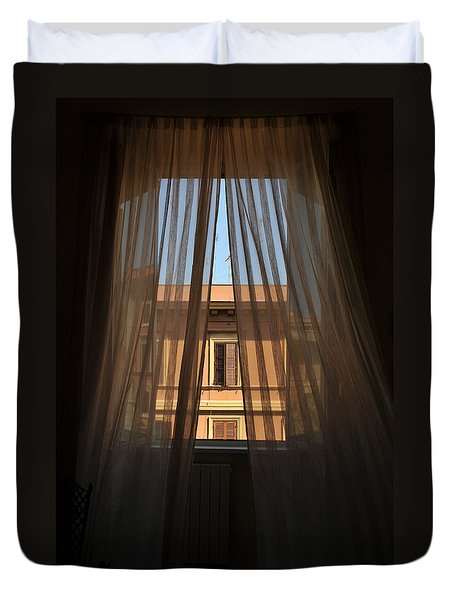 Window On Rome Duvet Cover