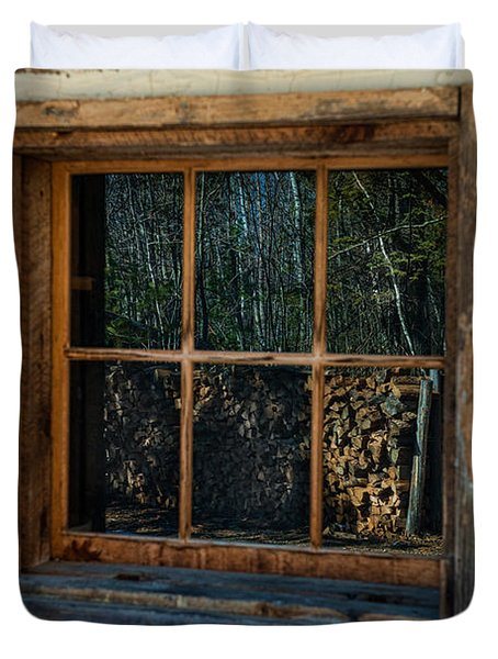 Window Reflection Duvet Cover by Paul Freidlund