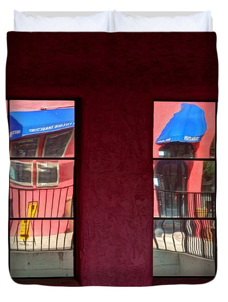Window Reflections Duvet Cover by Vivian Christopher