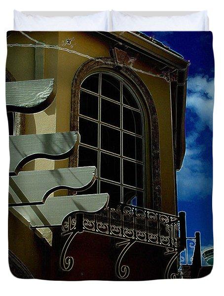 Window St Thomas Duvet Cover by John Holfinger