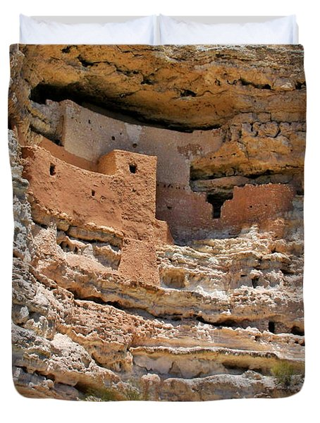 Window To The Past - Montezuma Castle Duvet Cover by Christine Till