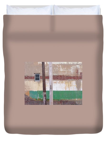 Window Wall Poles Duvet Cover
