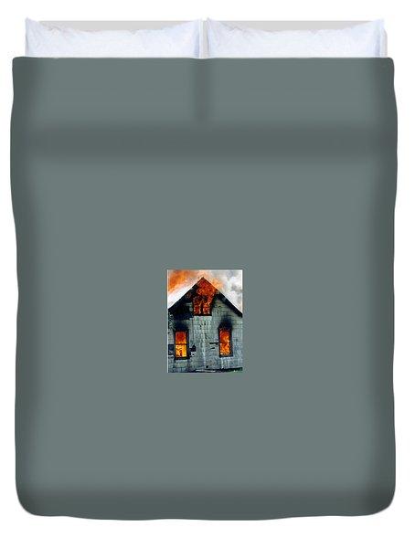 Windows Aflame Duvet Cover