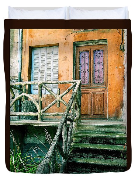 Duvet Cover featuring the photograph Windows And Doors 25 by Maria Huntley