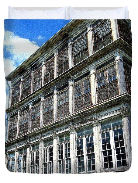 Lunatic Asylum Windows  Duvet Cover by Peter Gumaer Ogden