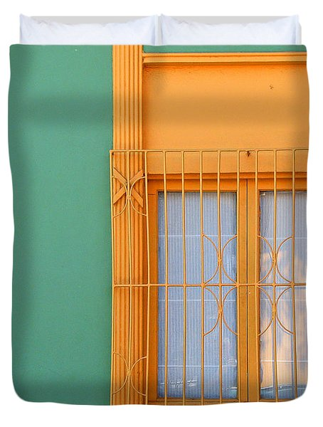 Windows Of The World - Santiago Chile Duvet Cover