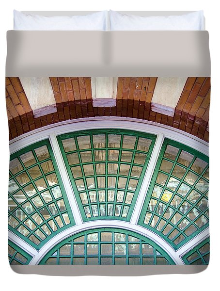 Duvet Cover featuring the photograph Windows Of Ybor by Carolyn Marshall