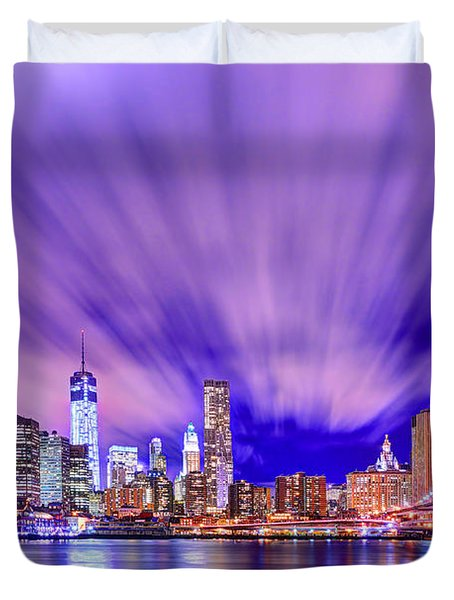 Winds Of Lights Duvet Cover by Midori Chan