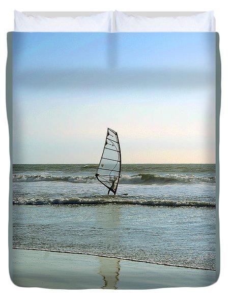 Windsurfing Duvet Cover by Ben and Raisa Gertsberg