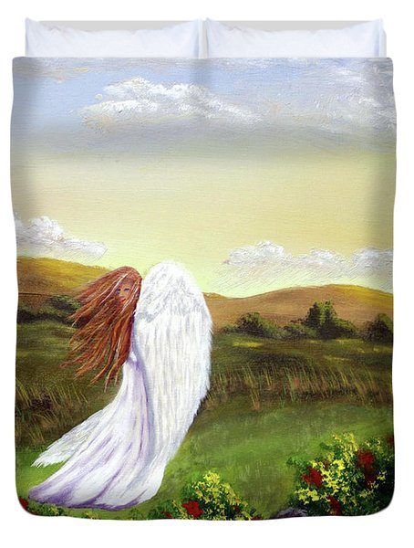 Windswept Angel Duvet Cover