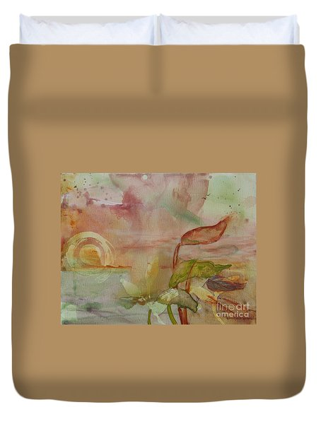 Duvet Cover featuring the painting Windswept by Robin Maria Pedrero