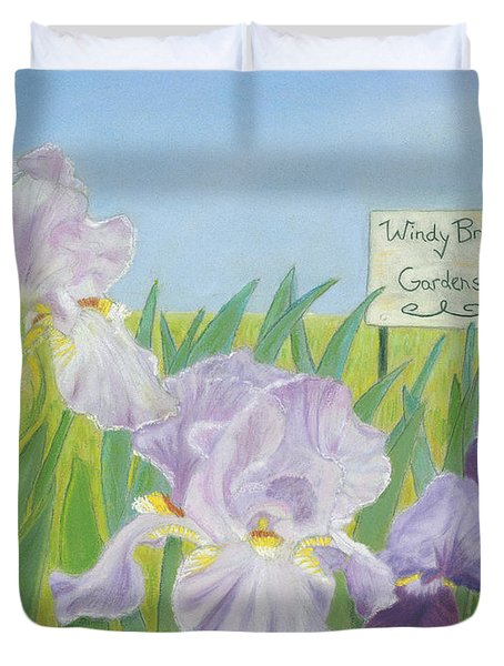 Duvet Cover featuring the painting Windy Brae Gardens by Arlene Crafton
