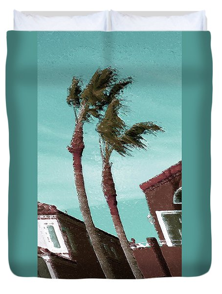 Windy Day By The Ocean  Duvet Cover by Ben and Raisa Gertsberg