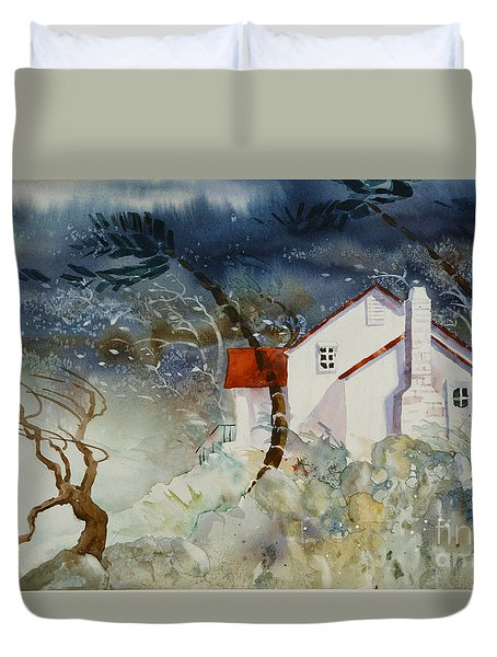 Windy Day Duvet Cover by Teresa Ascone