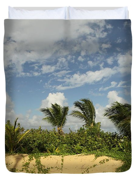 Windy Palms Duvet Cover