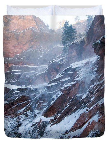 West Fork Windy Winter Duvet Cover