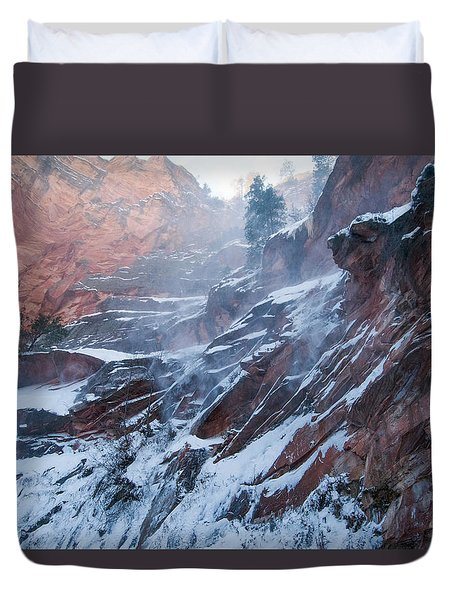 West Fork Windy Winter Duvet Cover