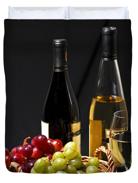 Wine And Grapes Duvet Cover by Elena Elisseeva