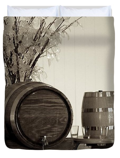 Wine Barrels Duvet Cover by Alanna DPhoto
