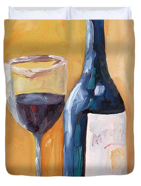 Wine Bottle Still Life Duvet Cover by Todd Bandy