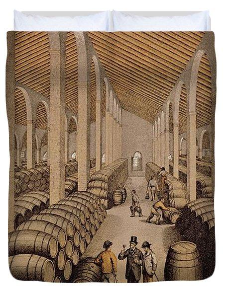 Wine Cellar At Jerez De La Frontera  Duvet Cover