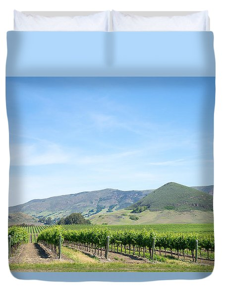 Wine Country Edna Valley Duvet Cover