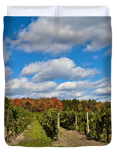 Wine In Waiting Duvet Cover by William Norton