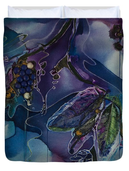 Wine Line Duvet Cover by Pat Purdy