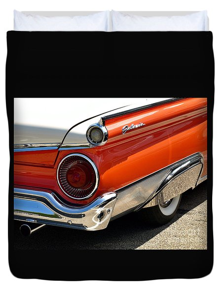 Wing And A Skirt - 1959 Ford Duvet Cover