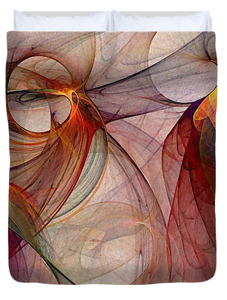 Winged-abstract Art Duvet Cover by Karin Kuhlmann