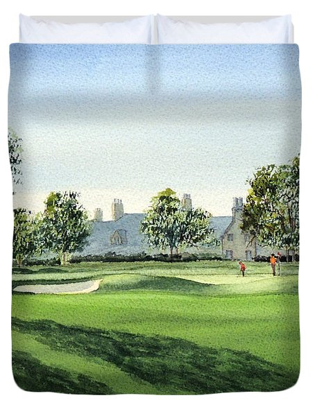 Winged Foot West Golf Course 18th Hole Duvet Cover